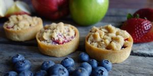 Mixed Berry and Apple Crumble Tarts